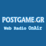 logo ραδιοφωνικού σταθμού Postgame Web Radio