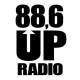 logo ραδιοφωνικού σταθμού 88.6 UP Radio