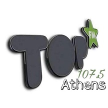 logo ραδιοφωνικού σταθμού Athens top FM