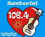 logo ραδιοφωνικού σταθμού Σαντορίνη FM