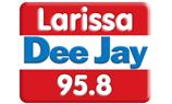 logo ραδιοφωνικού σταθμού Λάρισα DeeJay