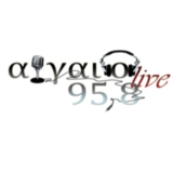 logo ραδιοφωνικού σταθμού Αιγαίο Live