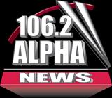 logo ραδιοφωνικού σταθμού ALPHANEWS 106,2 CRETE