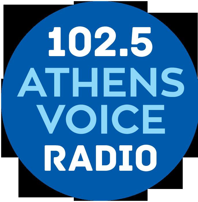 logo ραδιοφωνικού σταθμού Athens Voice