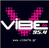 logo ραδιοφωνικού σταθμού Vibe FM