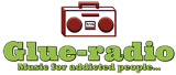 logo ραδιοφωνικού σταθμού Glue-radio