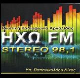 logo ραδιοφωνικού σταθμού Ηχώ FM
