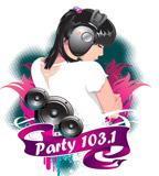 logo ραδιοφωνικού σταθμού 103.1 Party fm