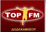 logo ραδιοφωνικού σταθμού Top FM Δωδεκανήσου