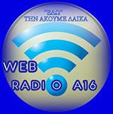 logo ραδιοφωνικού σταθμού A16 Radio