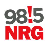 logo ραδιοφωνικού σταθμού 98!5 NRG