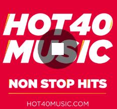 logo ραδιοφωνικού σταθμού Hot 40 Music
