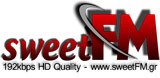 logo ραδιοφωνικού σταθμού sweetFM 96k